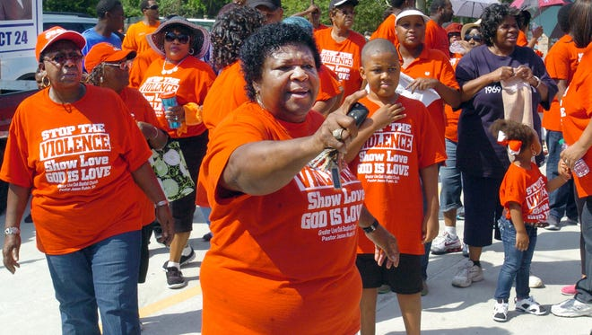 Daily World file photo of a stop the violence march held in Opelousas in 2015.