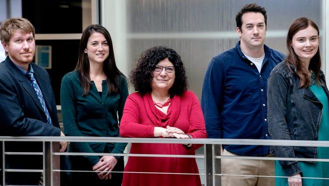 Pictured is the LSJ watchdog team (from left): Justin Hinkley, Beth LeBlanc, Judy Putnam, Matthew Mencarini and Sarah Lehr.