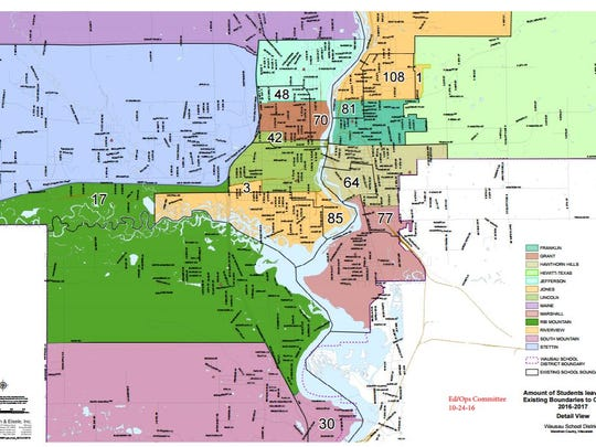 The Wausau School District has nearly settled on these recommended changes to elementary school boundaries. Board members may approve them on Monday.