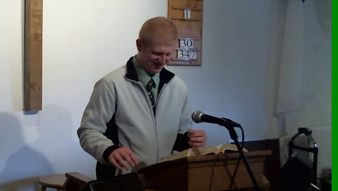 Carl Watkins preaches in this undated photo. His stepfather, Duane Arnold, said Carl could be ready to preach with virtually no notice.