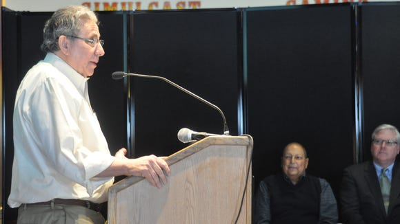 Tioga Downs owner Jeff Gural speaks Friday afternoon