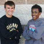 Livonia Franklin cross country runners Keenan Jones (left) and Tony Floyd have given the Patriots' a potent one-two punch this season.