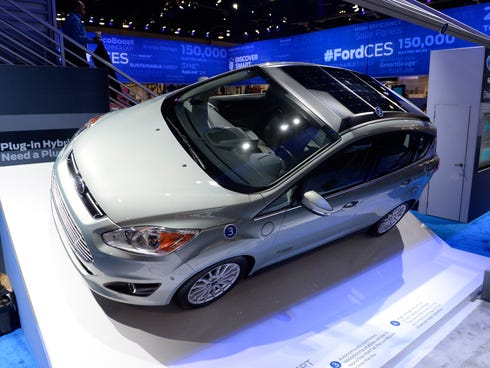 Ford displays their C-Max Solar Energi Concept at CES.