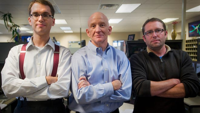 From left, David Montgomery, Patrick Lalley and Jonathan Ellis.