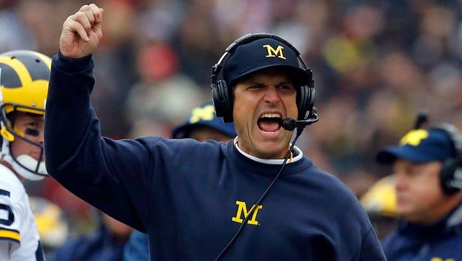 Michigan coach Jim Harbaugh.