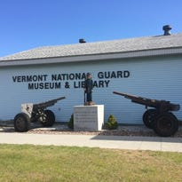 Aircraft on display outside at the Vermont National Guard Museum and Library.