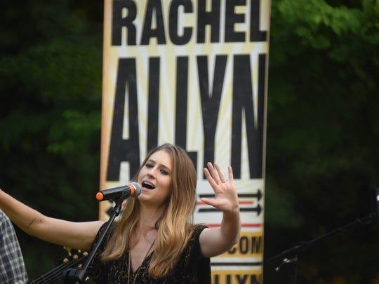 The Rachel Allyn Band is performing at Morgan's Farms in Cedar Grove.