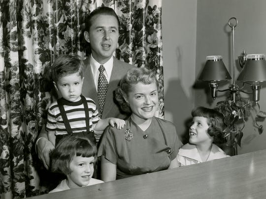 "Ruth and Paul Henning and their children, Linda, Paul and Carol, are shown in an undated photograph. Paul Henning created ""The Beverly Hillbillies."" Ruth Henning wrote a memoir of his life before her death in 2002; it is now being published Sept. 26, 2017."