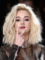 Singer Katy Perry attends The 59th GRAMMY Awards at