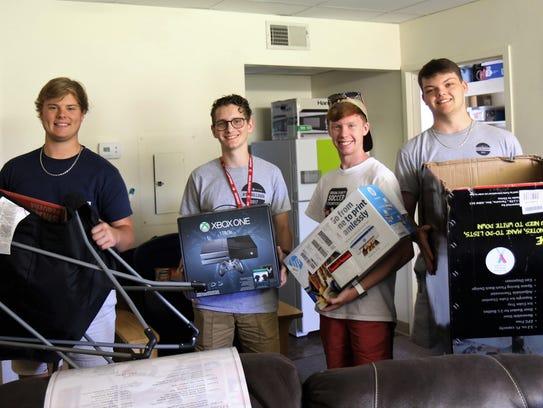 New students Ben Tucker, Chris Griffin, Jacob Beals