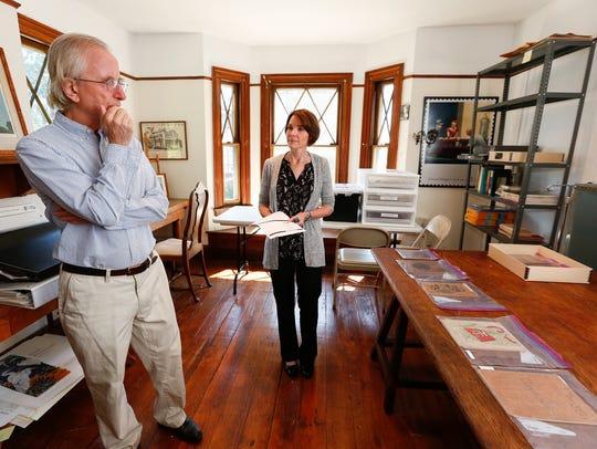 Richard Kendall, left, Edward Hopper House board member