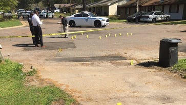 A homicide is investigated on E. Woodcrest Drive in Jackson, Miss.