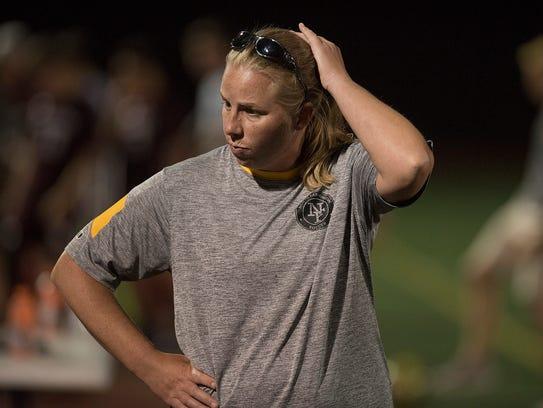 Second-year head coach Erika Rust led North Farmington