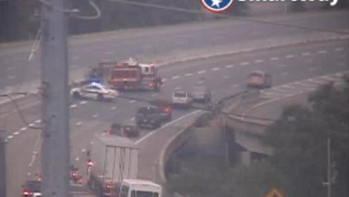 Two crashes are impacting traffic on Interstate 65 northbound.