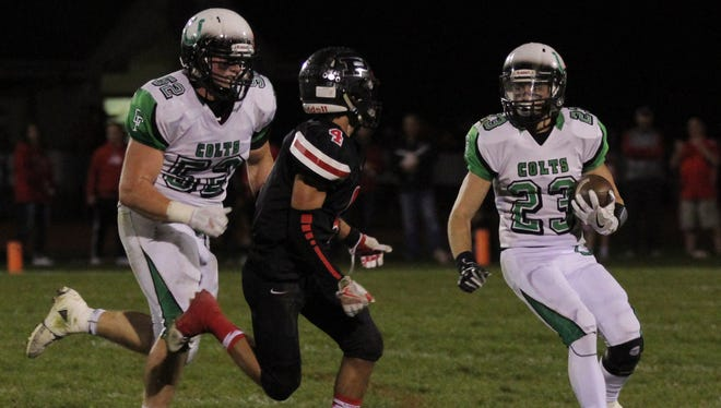 The Clear Fork Colts clinched the No. 1 overall playoff seed in their region by defeating Pleasant in Week 9