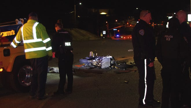 A motorcyclist was killed Thursday night when it collided with a car on Browning Street in Redding.