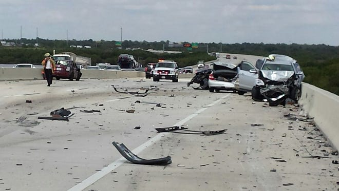 Northbound Interstate 75 is closed in the Punta Gorda area due to two traffic accidents.
