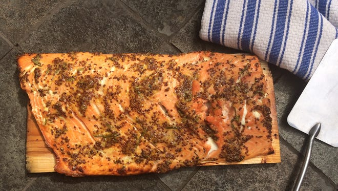 Cedar-Plank Salmon grills to perfection in about 15 minutes, but it also can be roasted in the oven.