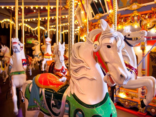 The King Arthur Carrousel attracts guests of all ages