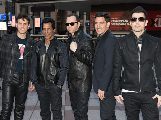 New Kids on the Block, pictured in 2015: Joey McIntyre (from left), Danny Wood, Donnie Wahlberg, Jordan Knight, and Jonathan Knight.