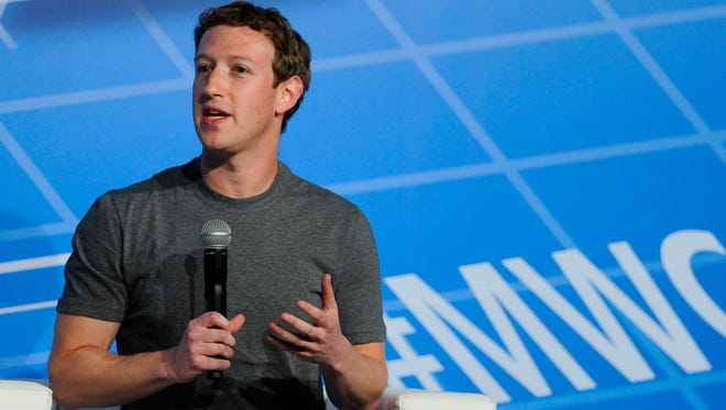 """Co-Founder, Chairman and CEO of Facebook Mark Zuckerberg  speaks during his keynote conference as part of the first day of the Mobile World Congress 2014 at the Fira Gran Via complex on February 24, 2014 in Barcelona, Spain. When prompted on the possibility of Facebook acquiring Snapchat Zuckerberg said: """"After buying a company for $16 billion dollars, you're probably done for awhile."""""""