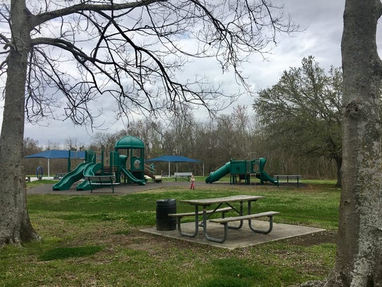 St. Bernard State Park offers two playgrounds, a splash