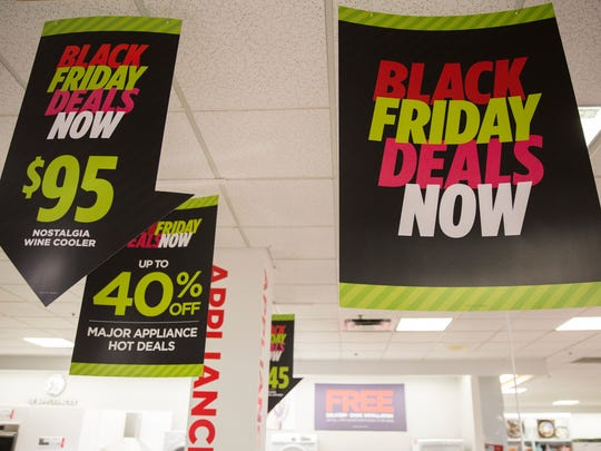Black Friday deals were already on display at J. C.