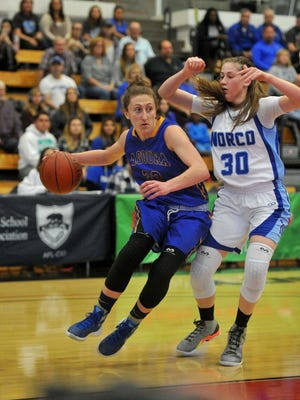 Emily Cangelosi was named the MVP of the Marmonte League in girls basketball.