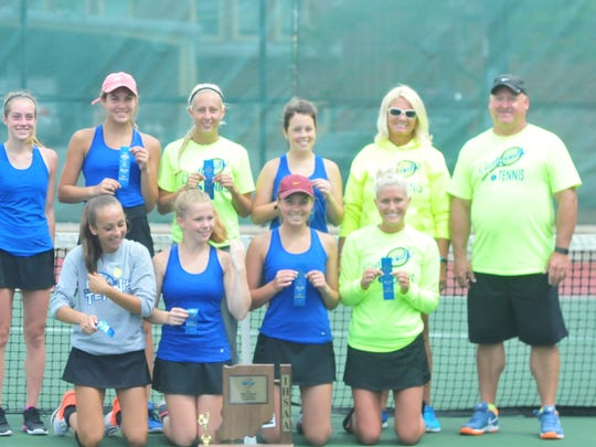 Centerville defeated Lincoln 3-2 Saturday to repeat as champions of the IHSAA girls tennis sectioanl at Richmond.