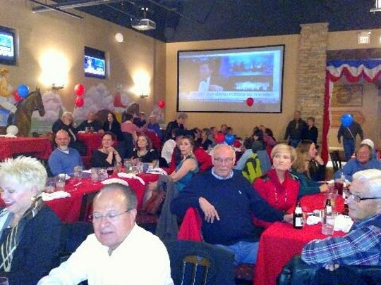 The turnout was loud and happy for the Red or Green Charity Inauguration Ball put on by the Federated Republican Women of Lincoln County.