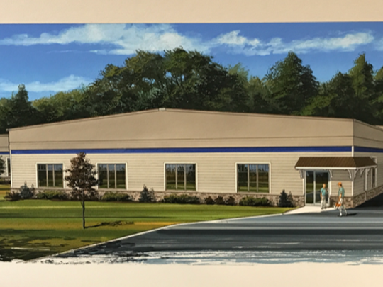 A rendering by Centgraph Inc. shows what the exterior