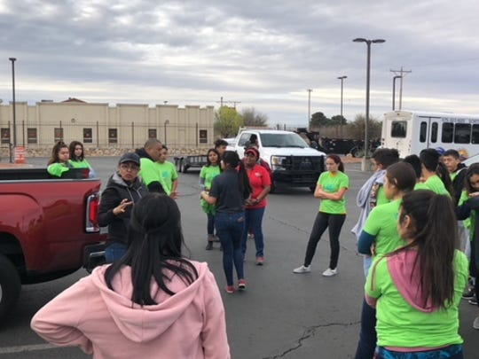 Anthony, N.M., residents participated in a community cleanup on March 17, 2018.