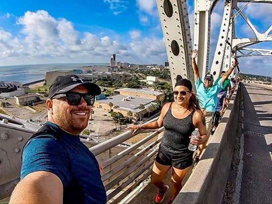 Monthly Bridgewalk in Corpus Christi Tx .#beahero #goprooftheday #corpuschristi #MemoriesMadeCC #cctx #txcoastalbend #vivacc #travelgram #naturelovers #getoutside #exploremore #adventureawaits #blackriflecoffee #seecc #beachlife #texas #wanderlust #texasforever #inspiretexasnow #marinaartscc #gopro #kiteboarding #downtowncc