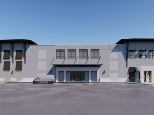 A rendering shows Carl's White Glove Personal Storage & Wine Vault, designed by MHK Architecture & Planning in Naples, which is slated for completion in East Naples by January.