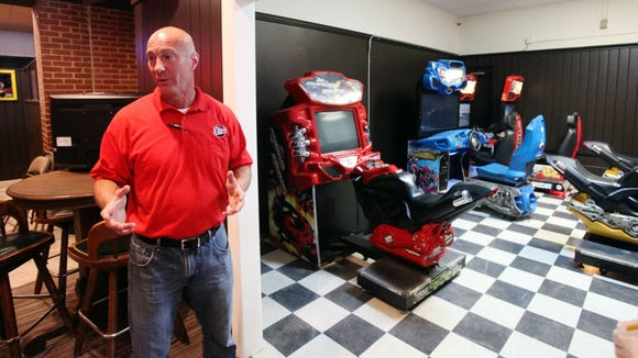 Danny Guidry, project manager of repairs and renovations at Pete's, speaks to The Advertiser near the room that will now be dedicated to video games Tuesday, May 19, 2015, at Pete's in Lafayette, La.