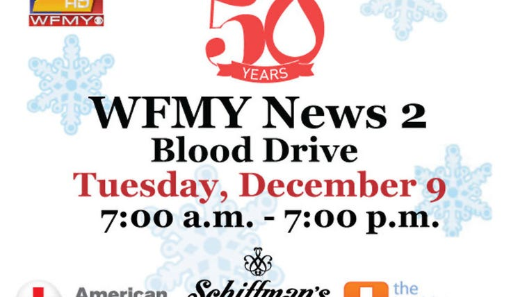 WFMY News 2 Holiday Blood Drive 2014