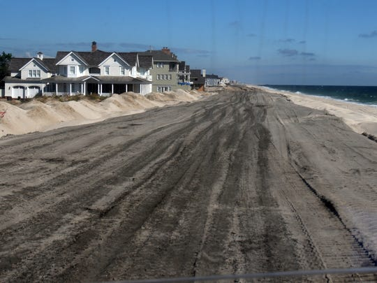 Dunes being built in Mantoloking on Sept. 27, 2013