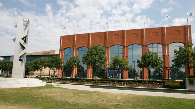 The NCAA, its headquarters shown here, is taking a new step in the likeness case brought by former UCLA star Ed O'Bannon and other college athletes.