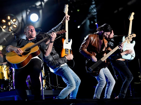 Old Dominion performs during the CMA Music Festival on June 10, 2017, at Nissan Stadium in Nashville.