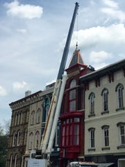 The Brunswick Building, on South Third Street, got a new steeple in May.