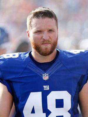 Tyler Ott, shown with the New York Giants during preseason, is the Seahawks' new long snapper.