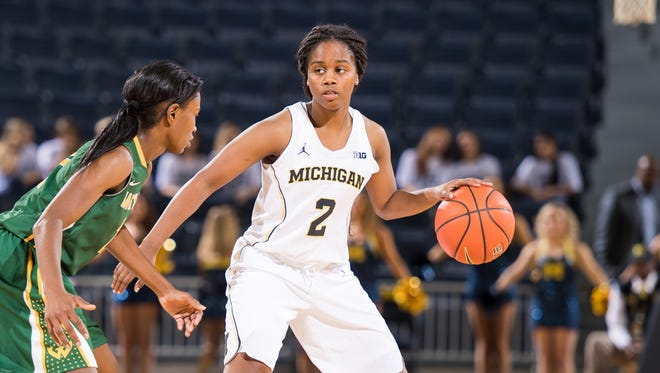 Michigan's Siera Thompson.