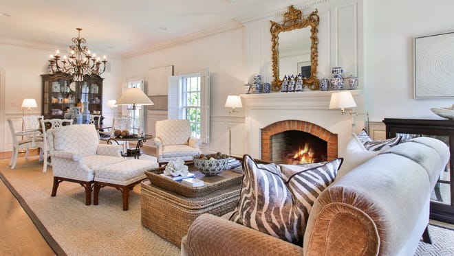 Cozy up by the gas fireplace inside the living room.
