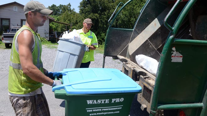 Waste Pro, Buncombe County's contracted trash services provider for unincorporated areas, is requesting an increase to its monthly rates.