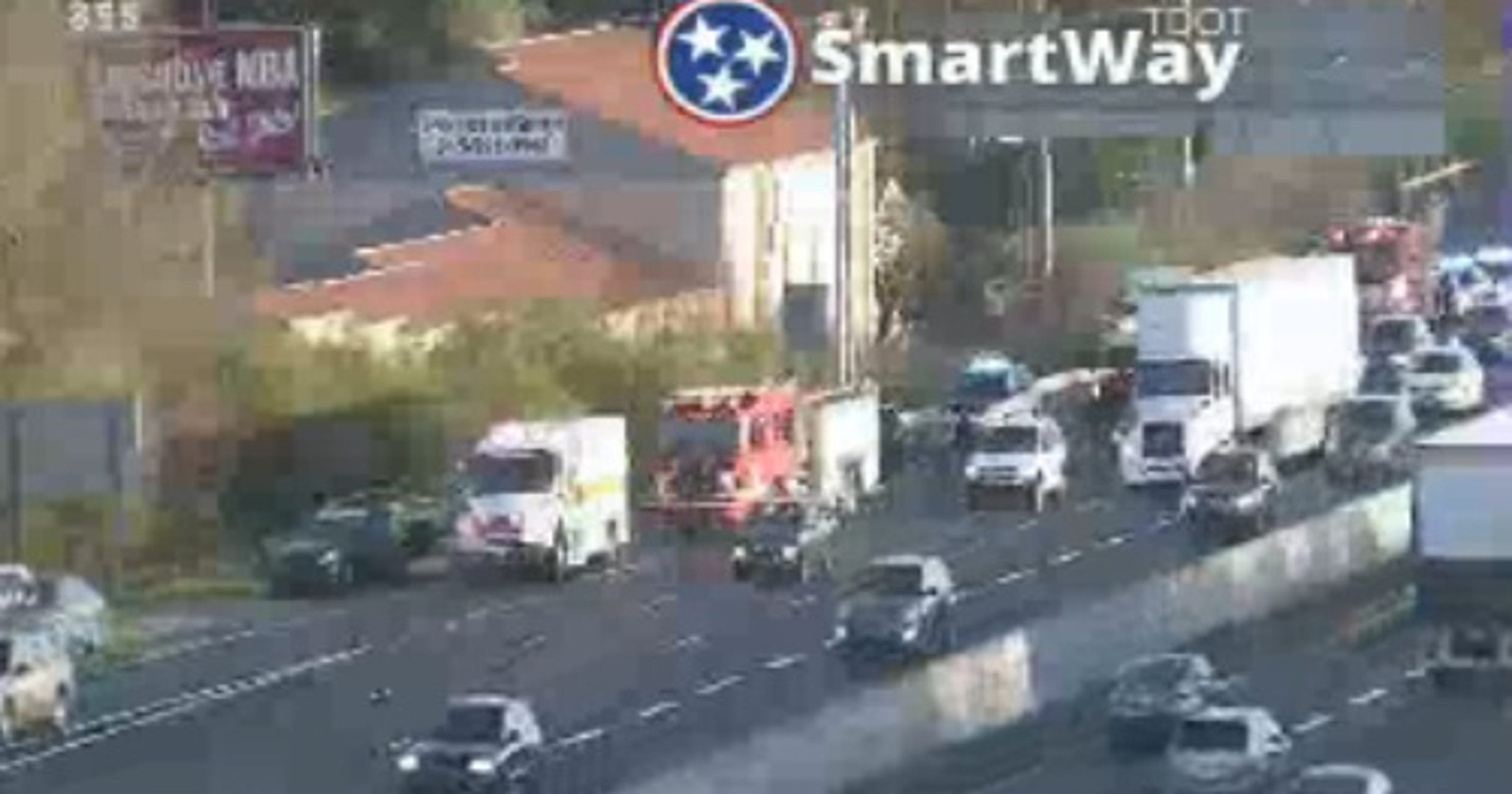 I-65 crash in Brentwood causing northbound backups