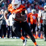 Jan 30, 2016; Mobile, AL, USA; North squad running back Kenneth Dixon of Louisiana Tech (28) carries the ball during second half of the Senior Bowl at Ladd-Peebles Stadium. Mandatory Credit: Butch Dill-USA TODAY Sports