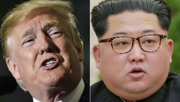 President Trump and North Korean leader Kim Jong-Un