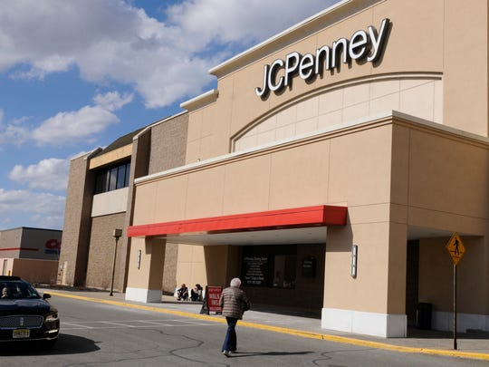 Shoppers head for the entrance to the JC Penney store at Wayne Town Center on Friday, February 24, 2017.