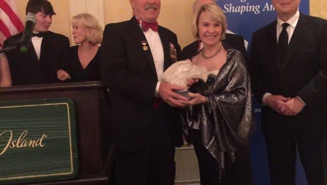 "Astronauts Rhea Seddon and Capt. Robert ""Hoot"" Gibson of Murfreesboro were awarded the 2017 Great American Award."