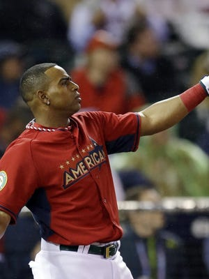 Yoenis Cespedes during last year's Home Run Derby, which he won for a 2nd consecutive season.
